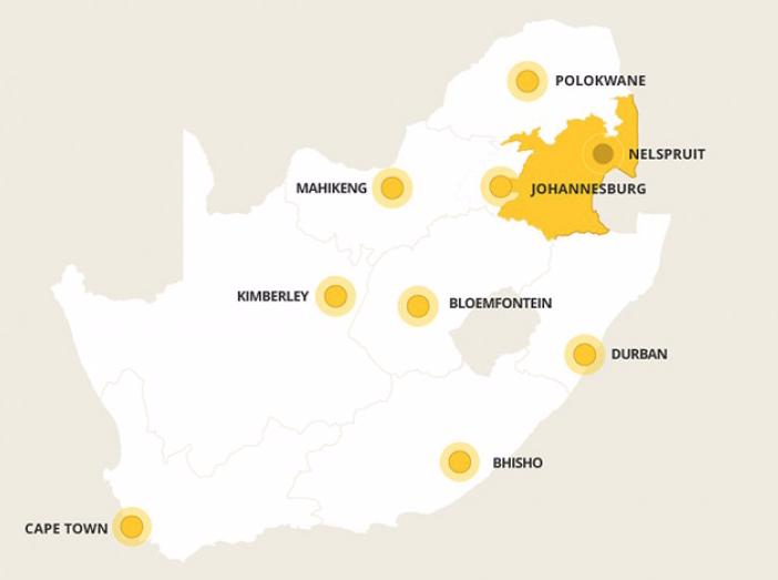 Kaart Mpumalanga