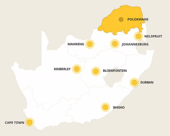 Kaart Limpopo