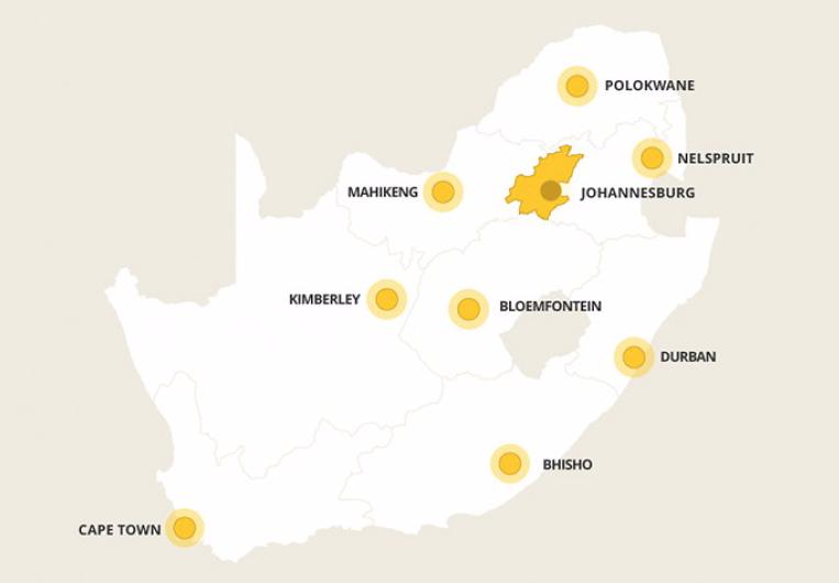 Kaart Gauteng