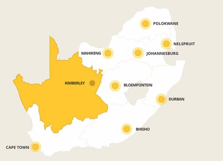 Kaart Noord-Kaap